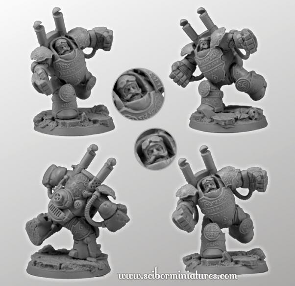 28mm Fantasy Football: 28mm/30mm Dwarf Player Heavy Steam Armor