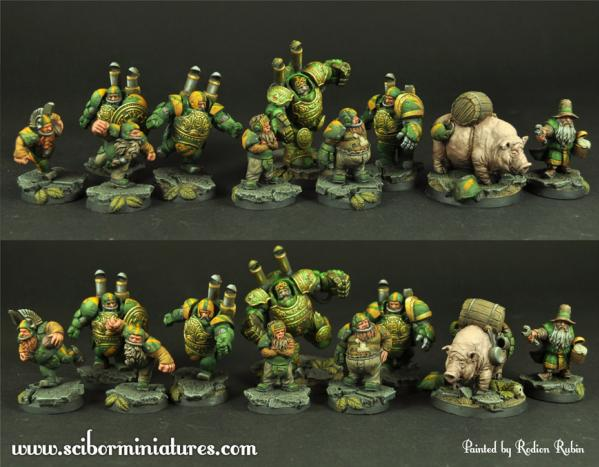 28mm Fantasy Football: 28mm/30mm Dwarves Football Team (10)