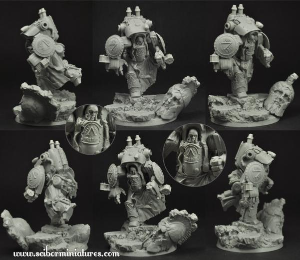 28mm Fantasy Miniatures: Spartan Cruiser Mech Suit #1