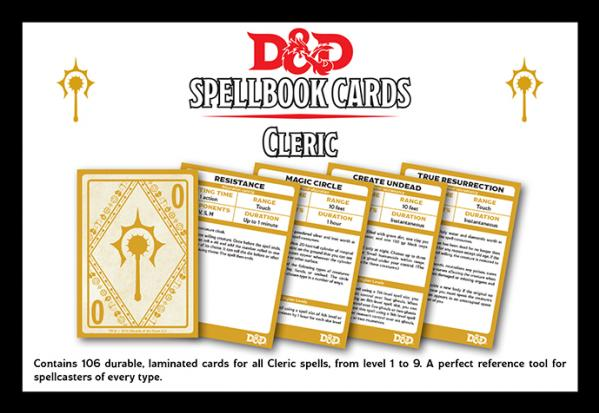 Dungeons & Dragons Next RPG: Cleric Spell Deck (106 Cards)