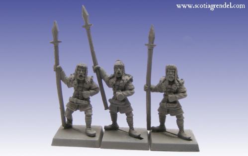 Grendel Metal Figures: Northmen Spearmen II
