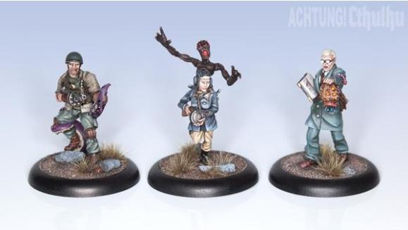Achtung! Cthulhu Miniatures - Allied Investigators: Pack 1 (3)
