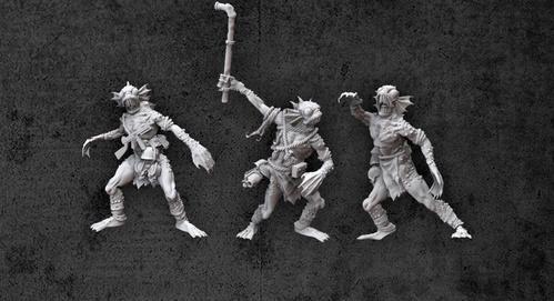 Achtung! Cthulhu Miniatures - Mythos Creatures: Deep Ones (3)