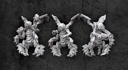 Achtung! Cthulhu Miniatures - Mythos Creatures: Mi-Go (3)