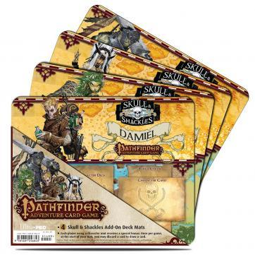 Pathfinder Adventure Card Game: Skull & Shackles Add-On Deck Play Mat 4 Pack (PACG)