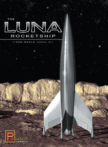 1/350 Scale: Luna Rocketship