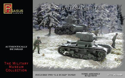 20mm WWII: Soviet T-26 Tanks 1/72nd Scale