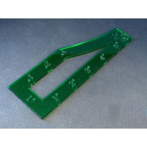 Bandua Accessories: Asu 40k Template (Green)