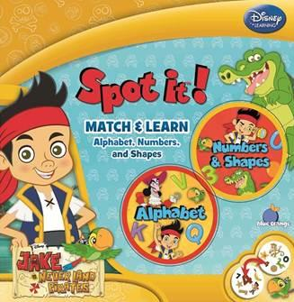 Spot it! - Alphabet/Numbers: Disney Jake the Pirate (2 in 1)