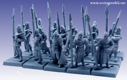 Grendel Metal Figures: Noble Elf Regiment