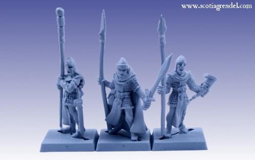 Grendel Metal Figures: Noble Elf Command