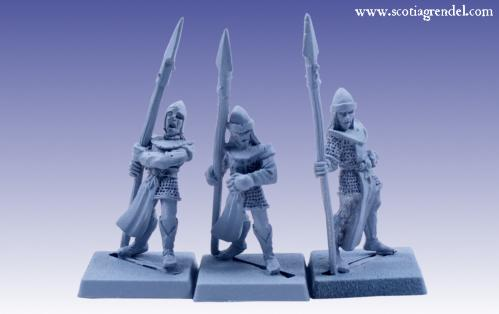 Grendel Metal Figures: Noble Elf Spearmen IV