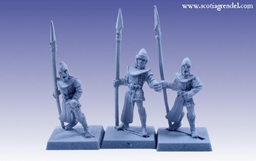 Grendel Metal Figures: Noble Elf Spearmen III
