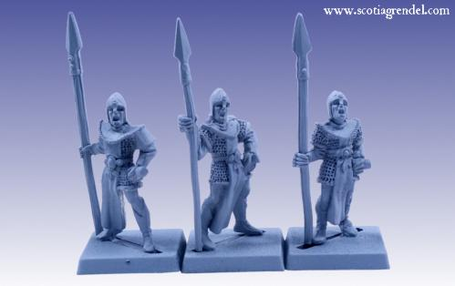 Grendel Metal Figures: Noble Elf Spearmen II