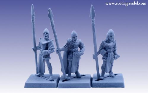 Grendel Metal Figures: Noble Elf Spearmen I