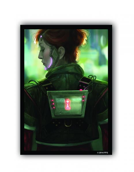 Android Netrunner LCG: Netrunner Deep Red Art Sleeves