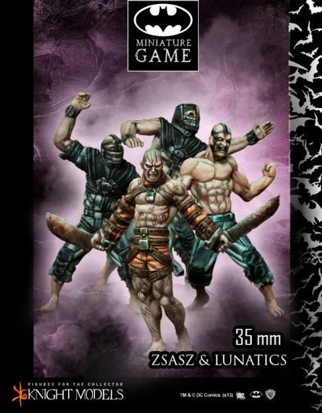 Batman Miniature Game: Victor Zsasz and Arkham Lunatics