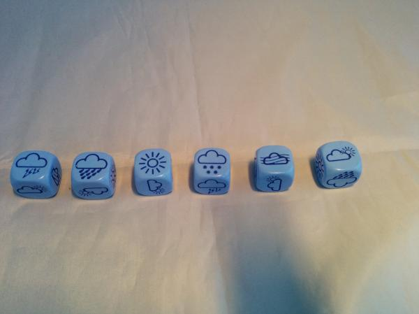 Novelty Dice: Opaque Light Blue/blue Weather 18mm d6 (1)