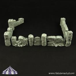 Extraordinary Basing Kits: Old Stone Wall Terrain Kit (10)