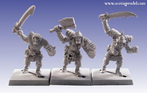 Grendel Metal Figures:  Greater Orcs with Hand Weapons II