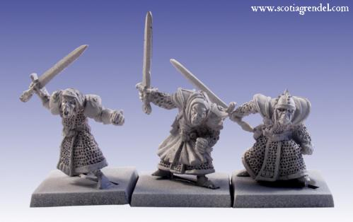 Grendel Metal Figures:  Stygian Orc with Hand Weapons I