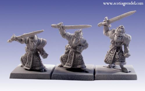 Grendel Metal Figures: Stygian Orc with Hand Weapons II