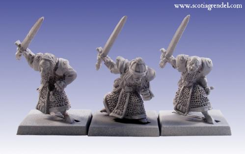 Grendel Metal Figures: Stygian Orc with Hand Weapons III