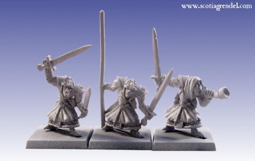 Grendel Metal Figures: Stygian Orc Command