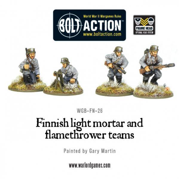 Bolt Action: (Finnish) Light Mortar & Flame Thrower [Blister]