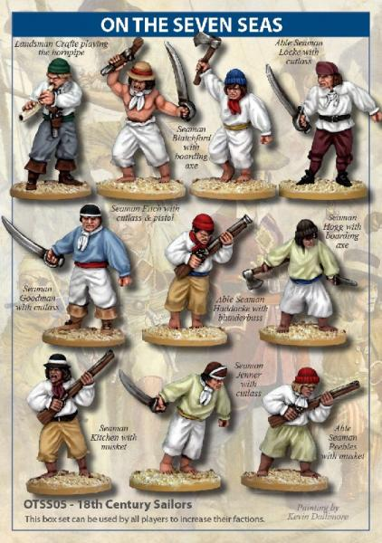 On The Seven Seas: 18th Century Sailors