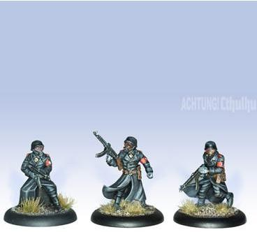 Achtung! Cthulhu Miniatures: Black Sun Troopers (3)