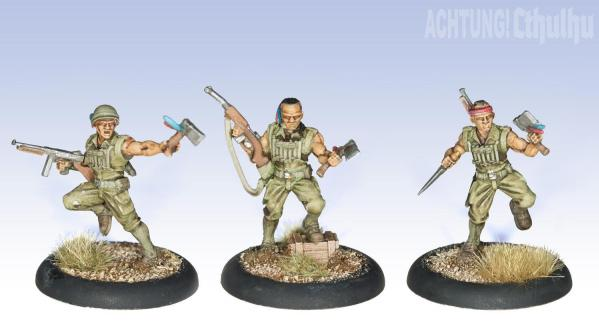 Achtung! Cthulhu Miniatures: Pathfinder Demonhunters (3)