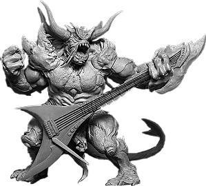 BaneLegions: Belech Sabbath, Axeman of Omens (resin)