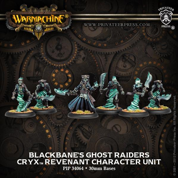 Warmachine: (Cryx) Blackbane's Ghost Raiders (new)