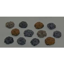 28mm Hand Painted Terrain Accessories: Coin Pile  (Set of 12)