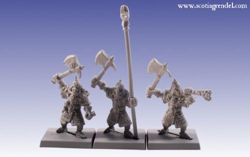Grendel Metal Figures:  Half-Orc Command