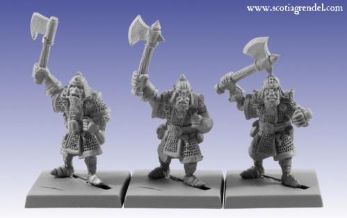 Grendel Metal Figures: Half-Orc with Axe I