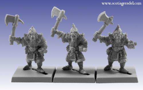 Grendel Metal Figures: Half-Orc with Axe II