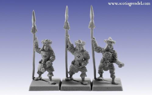 Grendel Metal Figures: Barbarian Spearmen II
