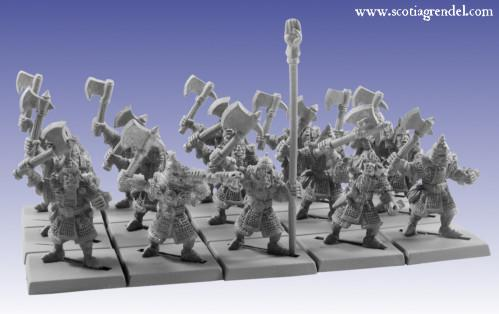 Grendel Metal Figures: Half - Orc Regiment