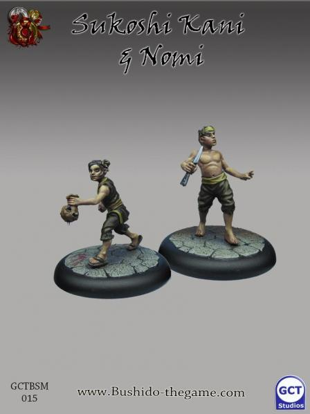 Bushido Miniatures: (Silvermoon Trade Syndicate) Sukoshi Kani & Nomi