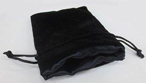 Velvet Dice Bags:  The Black Void  Large (5'' x 8'')