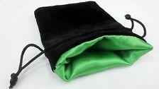 Velvet Dice Bags: Elven Green Large (5'' x 8'')
