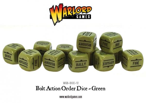 Orders Dice (Green w/Black)