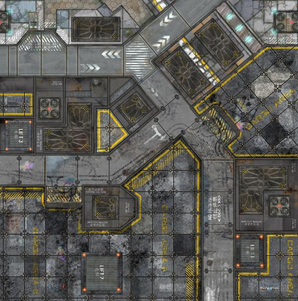 War Game Mat: Warehouse (48x48in)