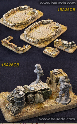 Cama Scenics (15mm WWII): Large Battery Emplacement (Desert)