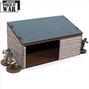 28mm Terrain: Cartshed/Woodshed