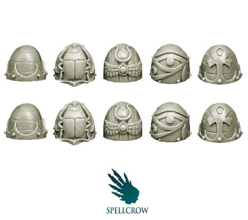 28mm Sci-Fi - Changed Legions: Knight shoulder pads