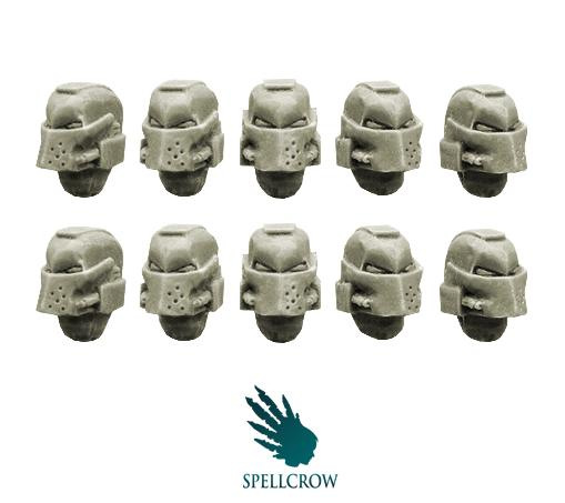 28mm Sci-Fi -  Space Knights: Helmets