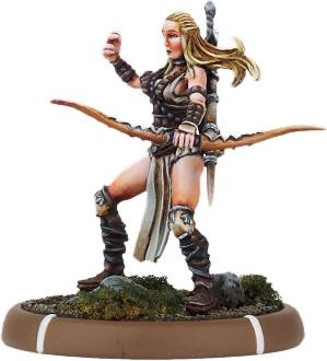 Darklands: Leofwen, Fane-Bearer of Dera on Foot (resin)